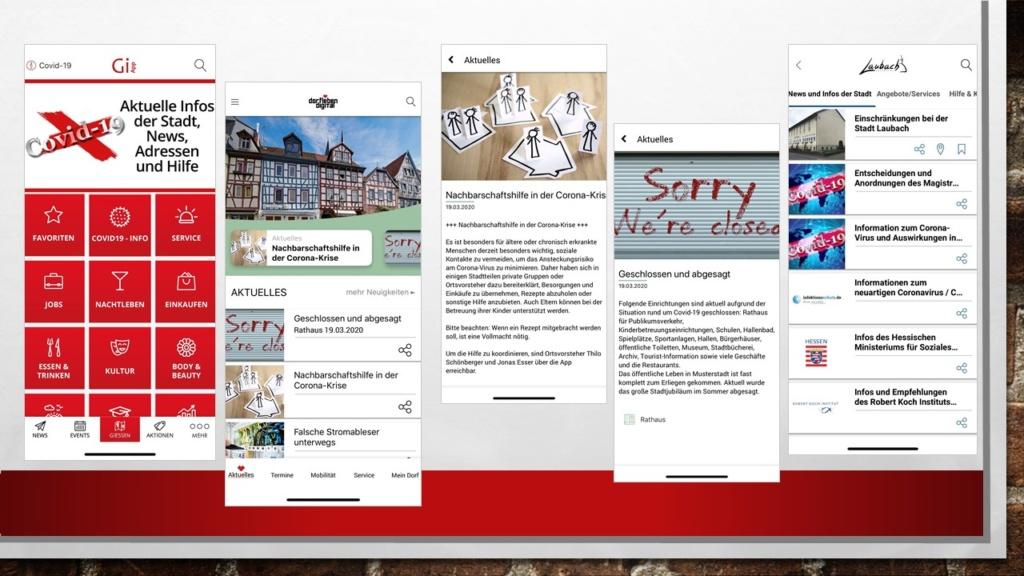 Stadt-App Dorf-App